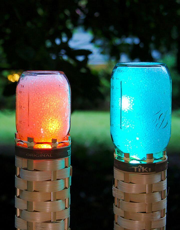 techno mason jars, torch mason jars, do it yourself