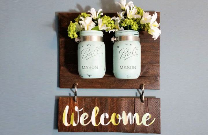 mason jars, welcome mason jars, sign board mason jars, sign board ideas,