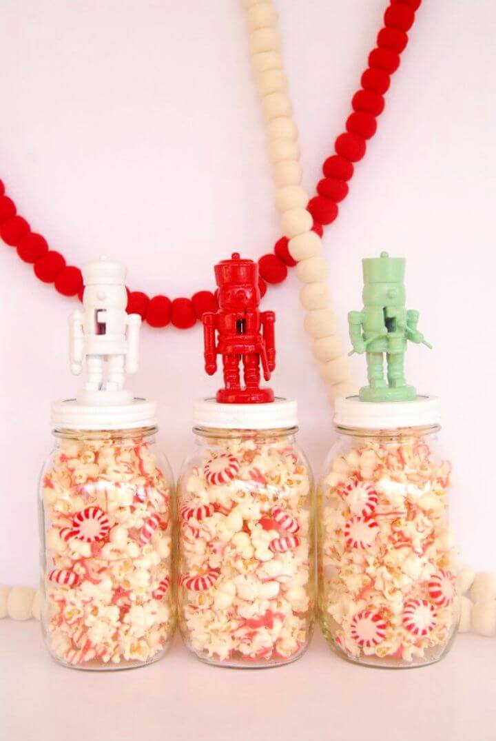 nutcracker jars, toppers mason jars, kitchen ideas, creative ideas, how to decor, diy crafts and projects