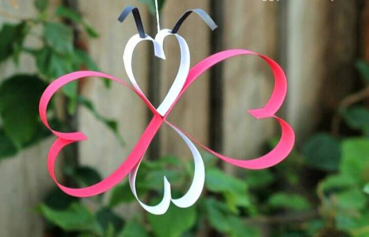 paper heart, butterfly crafts, diy crafts, diy ideas, diy projects, how to ideas, diy ideas, diy crafts and projects,