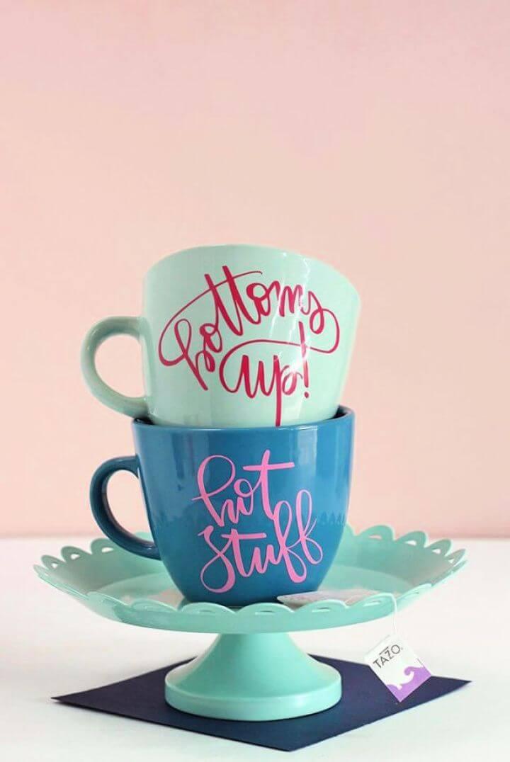 simple coffee mugs, personalized coffee mug, colorful coffee mug ideas, diy and crafts,