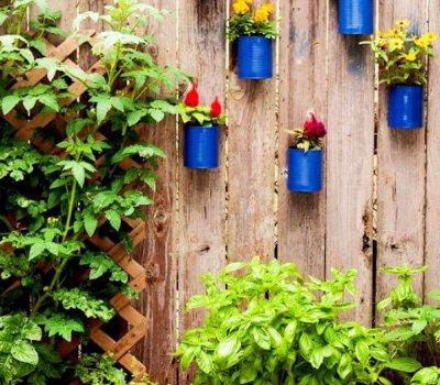 diy recycled, tin can, garden ideas, how to crafts, diy ideas,