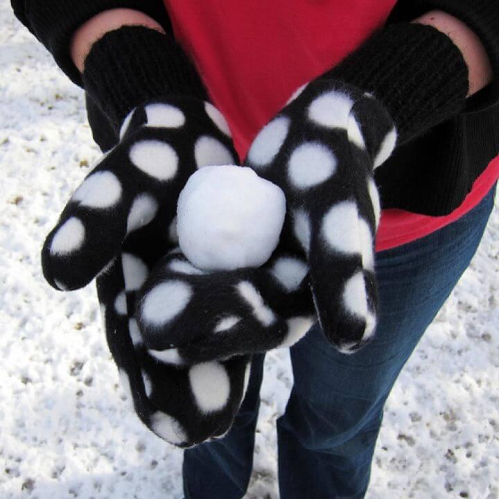 reversible fleece, mittens gloves, how to