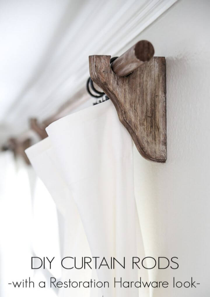 rustic diy, home decor diy, curtain rods, creative ideas