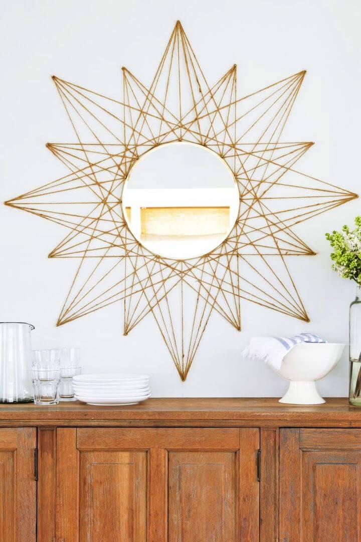 star mirror, home decor, diy crafts, diy ideas, crafts for home,