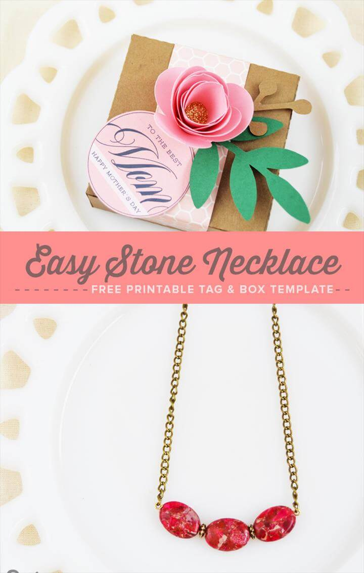 Diy Jewelry Necklace, Stone Necklace, Jewelry Art, Diy Jewellery, Jewelry Making, Handmade Jewelry Tutorials, Printable Tags, Free Printables, Free Gifts, Mother's Day Printables, Diy Necklace, Stone Necklace, Free Gifts, Diy Gifts, Flower Decorations, Gifts For Mom, Gift Tags, Holiday Crafts, Diy Mother's Day Necklace, Stone Necklace, Free Printable Tags, Necklace Display, Mother's Day Diy, Mothers Day Crafts, Free Gifts, Beautiful Necklaces, Joyful,