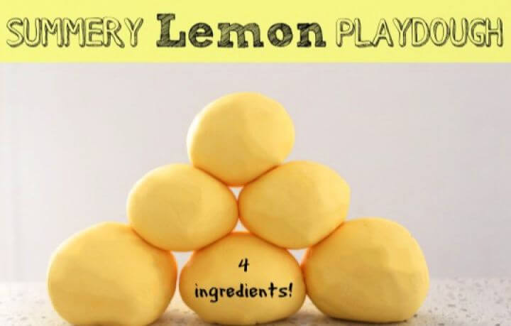 summer lemon playdough, creative ideas, creativediys