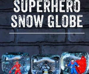 superhero snow globe, crafts for girls, how to crafts, ideas, do it yourself,