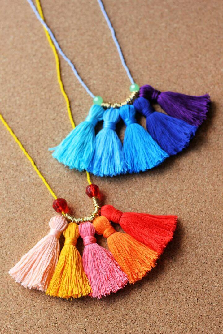 tassel necklace, for mother day, how to crafts, ideas for mother,