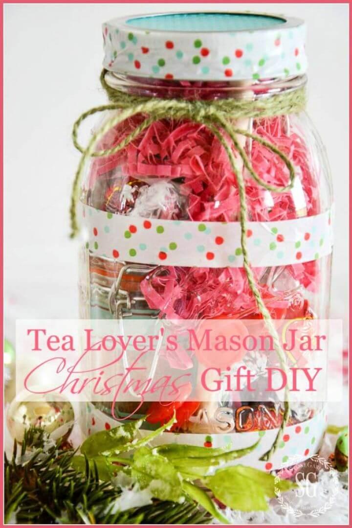 tea lovers, mason jars, christmas gift mason jars, diy januar ideas