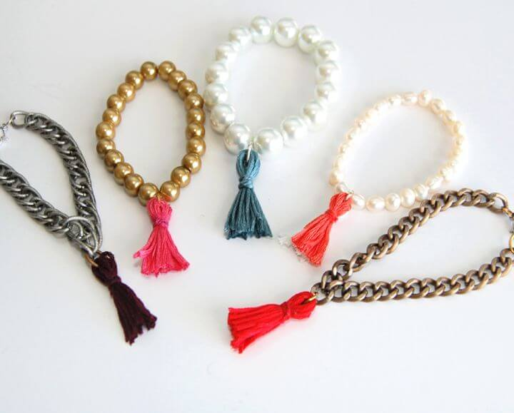 threat tassle bracelet, diy crafts and projects, multi colors bracelets, how to