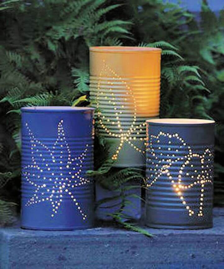 tin can luminaries, creative ideas, creative for summer, creativediys