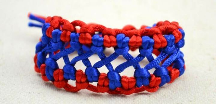 two colored. woven hemp bracelets, friendship bracelets, how to crafts, how to jewelry projects,