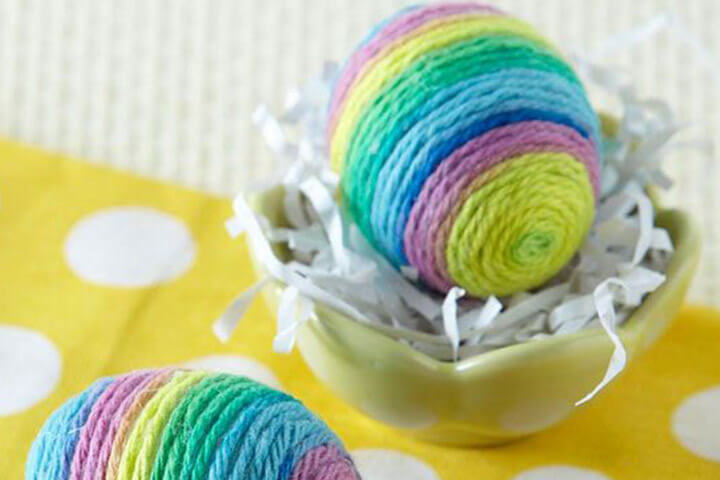 Wool Easter Egg Decorations: