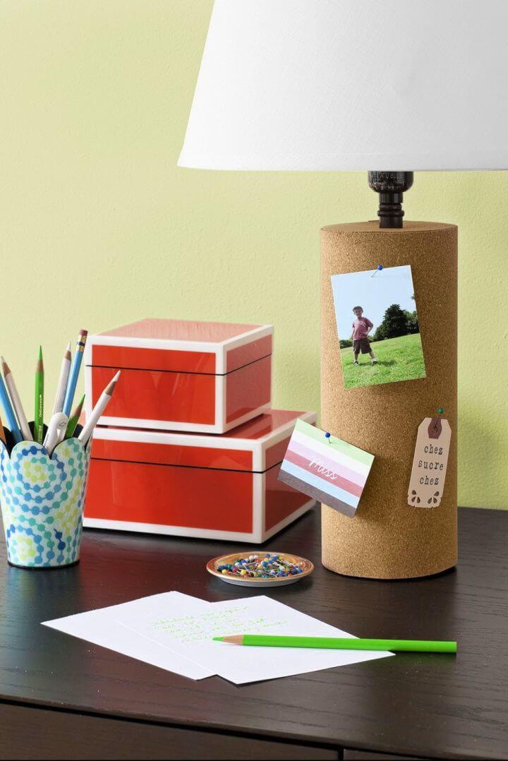 cork lamp, diy home decor, diy ideas,