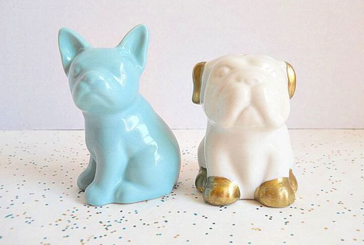 creative gifts, creative ideas, puppy salt, and pepper shakers, crafts with gifts