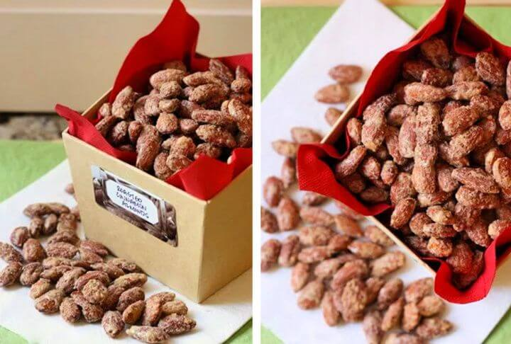 creative gifts, gift ideas, roasted cinnamon almonds, crafts for everyone,
