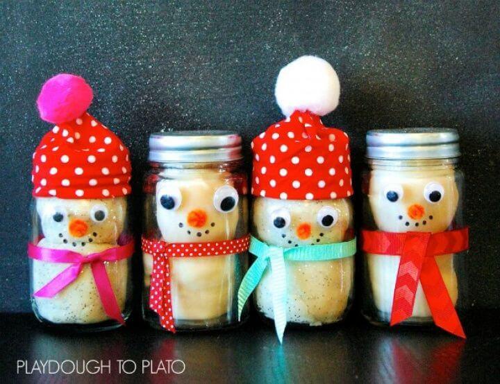 creative mason jars, diy ideas, snowman mason jars, mason jar ideas
