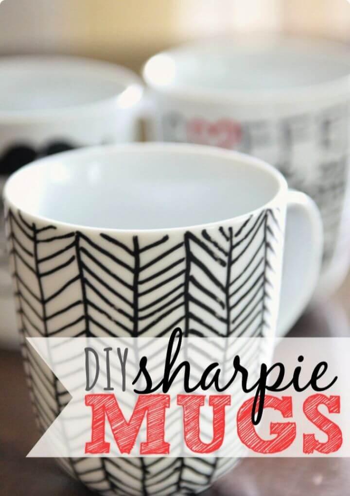 diy sharpie mugs, mugs design ideas, coffee mug ideas, how to crafts,