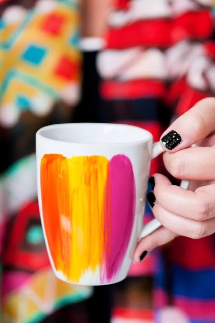 diy crafts, diy ideas, diy projects, abstract coffee mug, paints, ideas