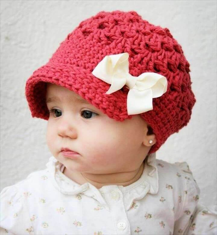 baby crochet hat, crochet ideas, diy ideas, crochet idea, crochet patterns, how to make