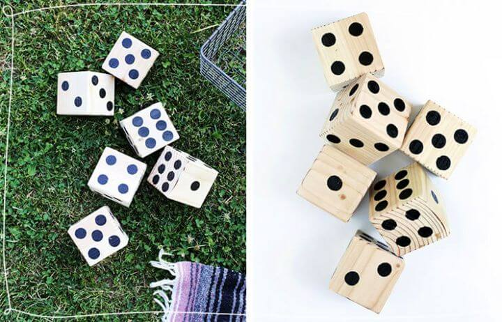 diy lawn dice game, holiday ideas, holiday projects, holiday last minute crafts