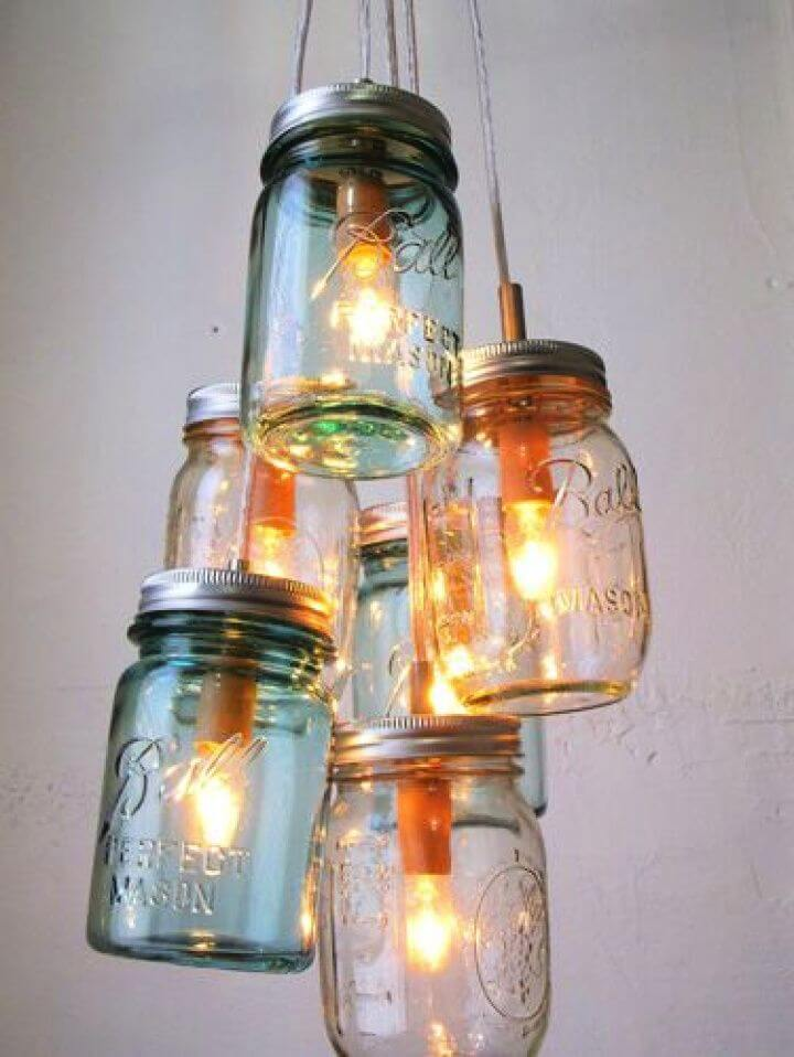 light mason jars, diy ideas, diy crafts and projects, mason jars