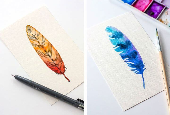 feather painting, room decor idea, diy crafts and projects, do it yourself, easy room decor