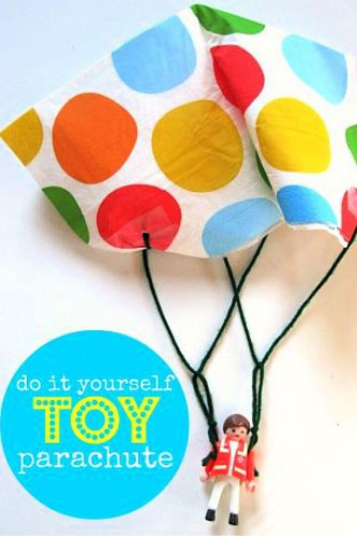 diy toy, parachute kids, flying ideas, how to decor, make these ideas, diy crafts and projects, creativediys