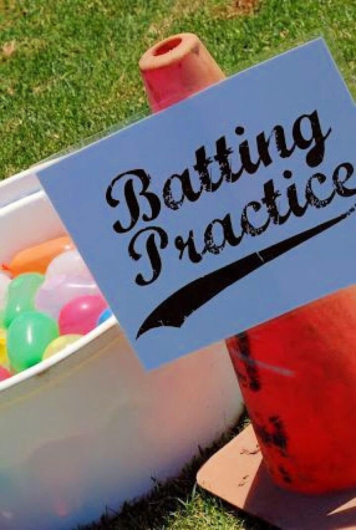 diy water ballon batting, station, ideas, for, kids, how to make, crafts for kids