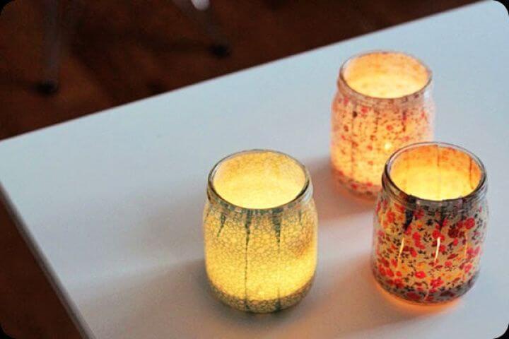 fabric trim jars, diy ideas, diy crafts, diy jars, jars ideas