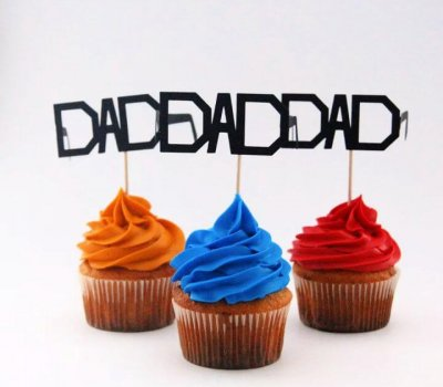 father day, glasses cupcake, topper ideas, for father day
