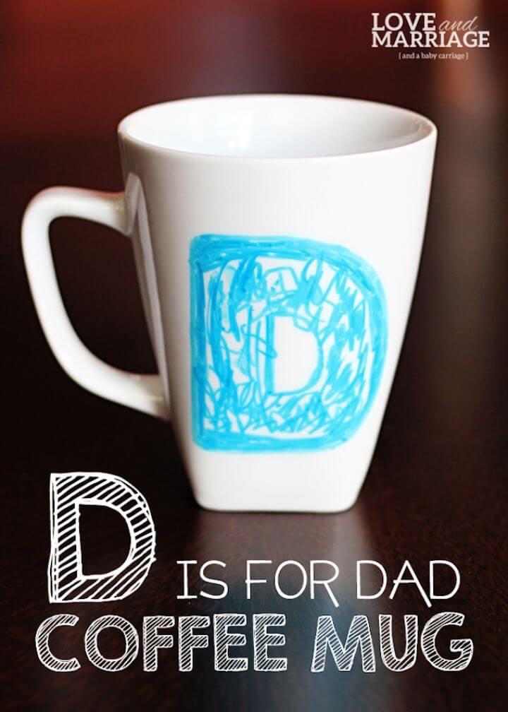 father day, coffee mug ideas, sharpie mug, creative ideas, creative crafts,