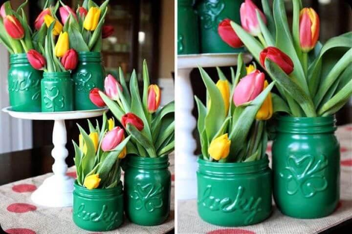 flowers mason jars, diy mason jars, how to make mason jar, diy crafts