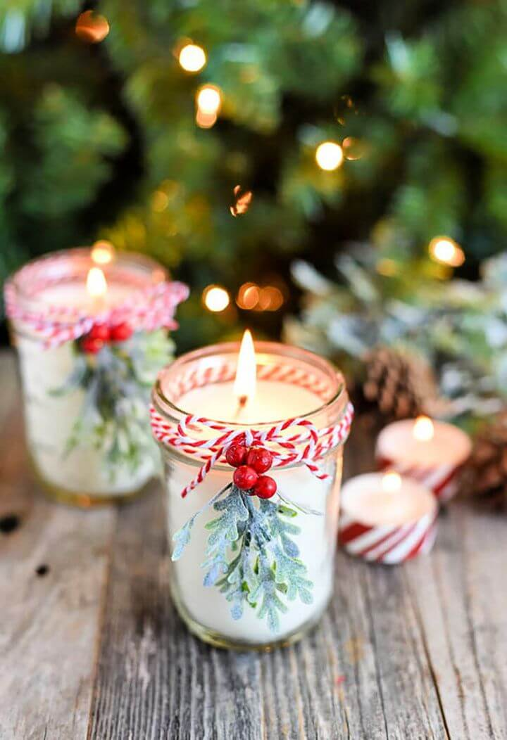 how to make, soy peppermint, candle crafts, for christmas gift, holiday ideas