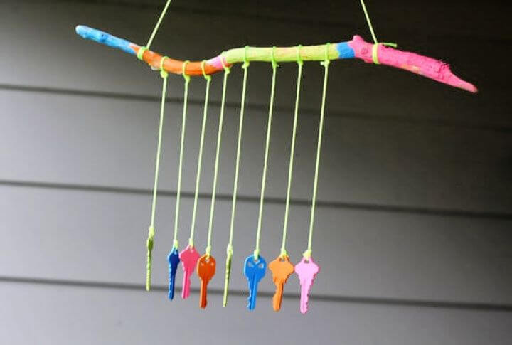 key wind chime, crafts for kids, how to, crafts for kids, creative ideas