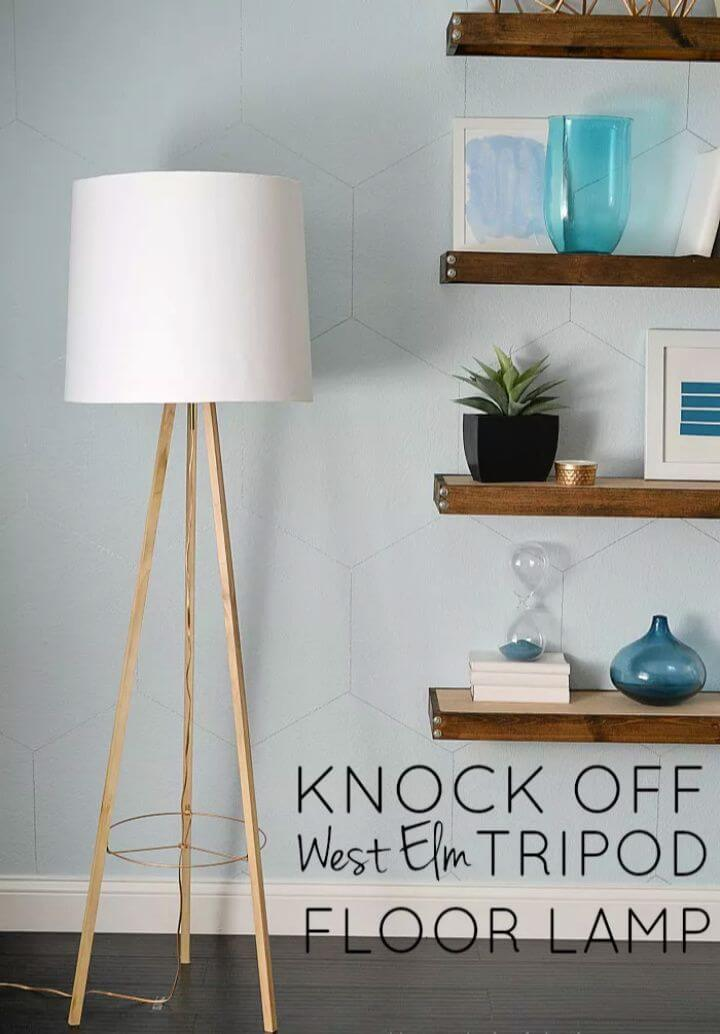 wooden lamp, wooden tripod, wooden projects, wood home decor