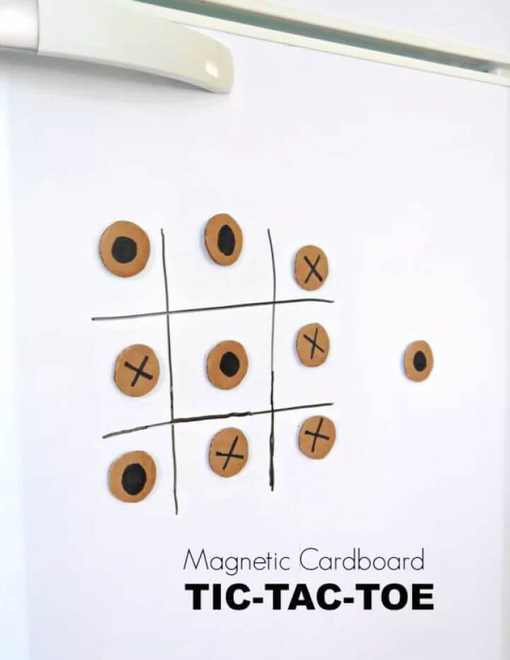 creative diys, creative ideas, how to, magnetic tic tac toe, ideas, for kids