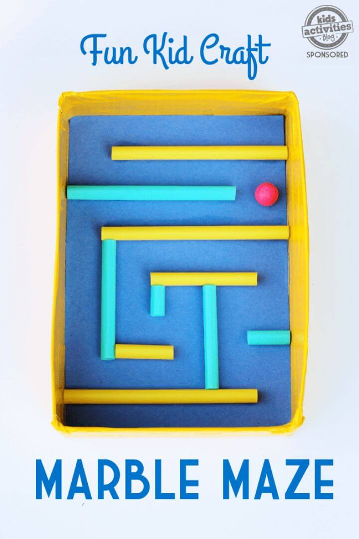 marble maze diy, diy crafts and projects, how to crafts, kids activities,