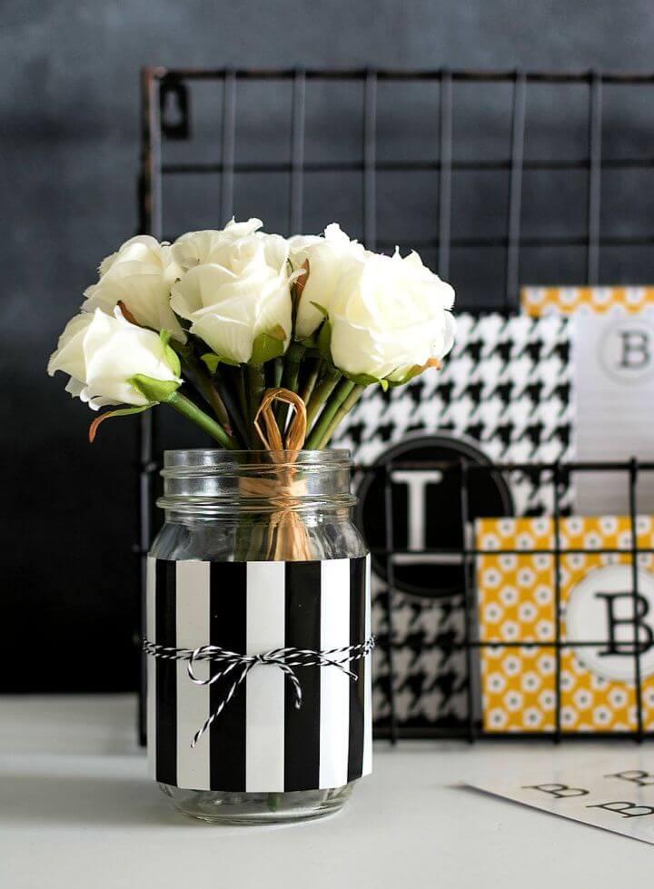 5 minute crafts, room decor mason jars, creative mason jars, desk decor jars