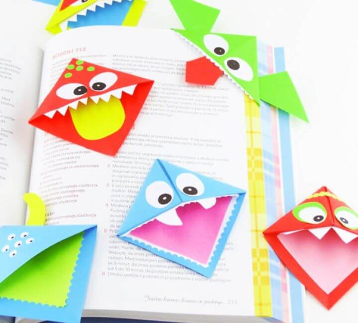 origami corner bookmarks, diy crafts for kids, crafts to make and sell, make and sell