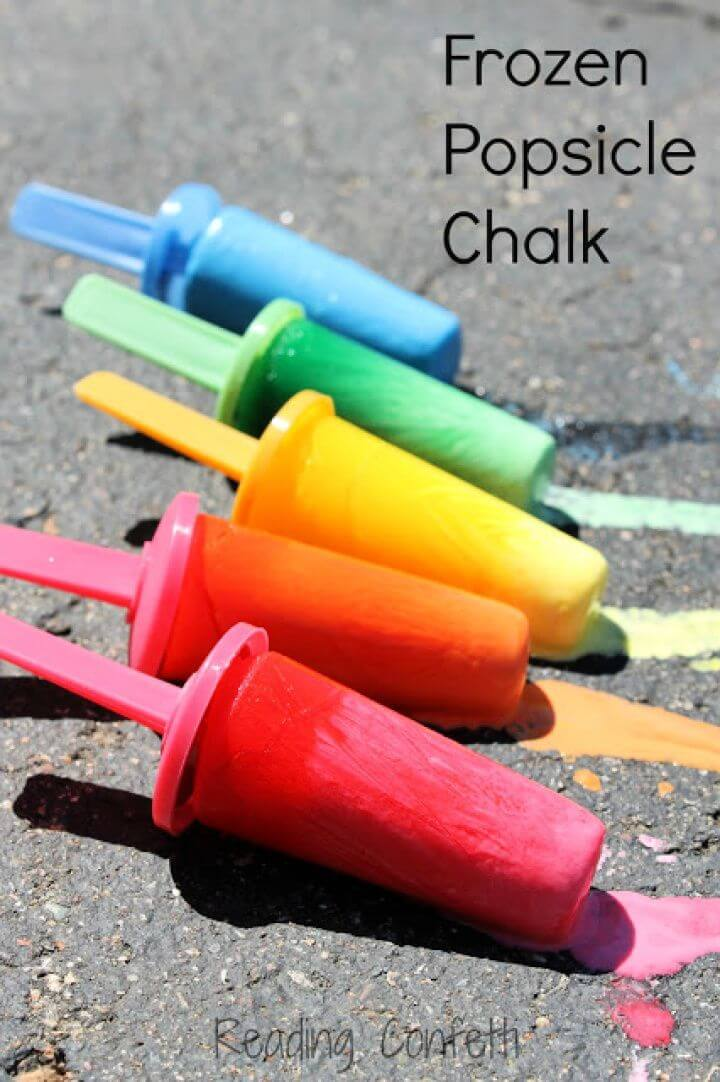 popsicle, chalk, for kids, how to entertain kids, crafts ideas, do it yourself kids,