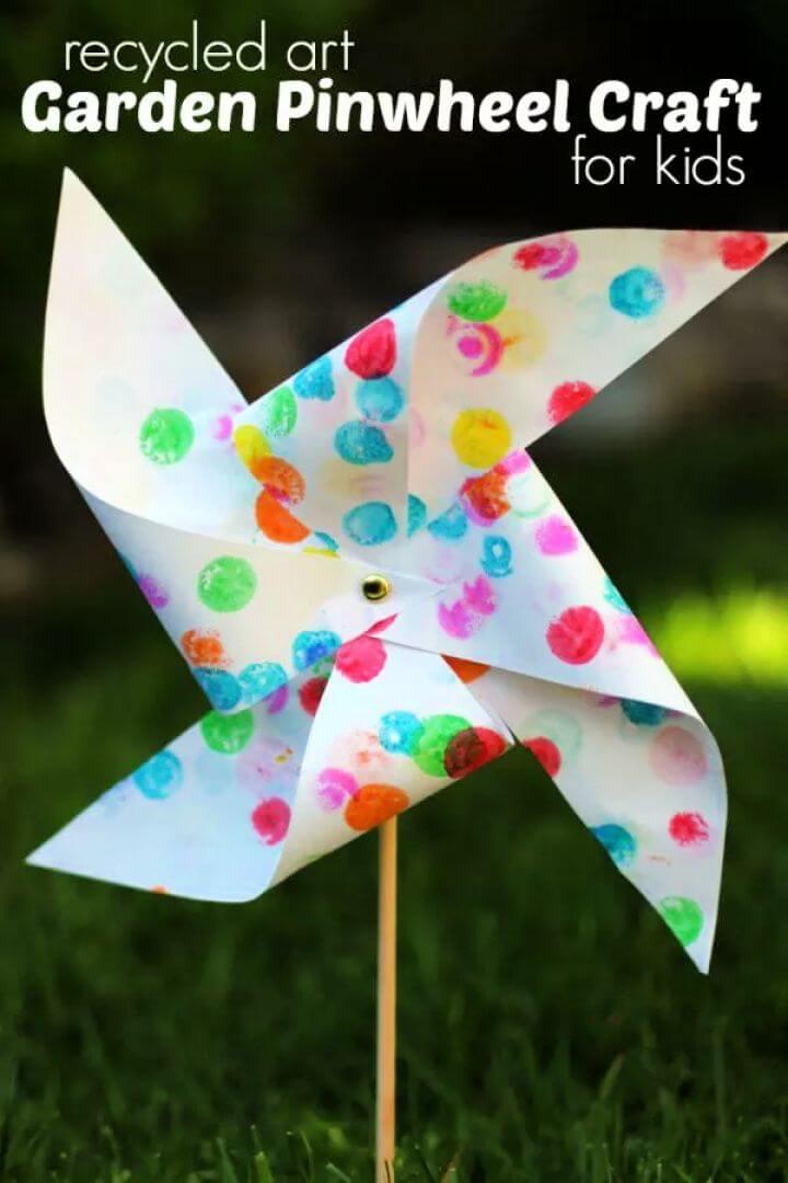 recycle art, garden ideas, garden pinwheel, how to crafts, diy crafts