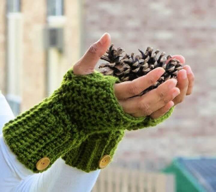 do it yourself, how to crochet, fingerless gloves. stylish gloves