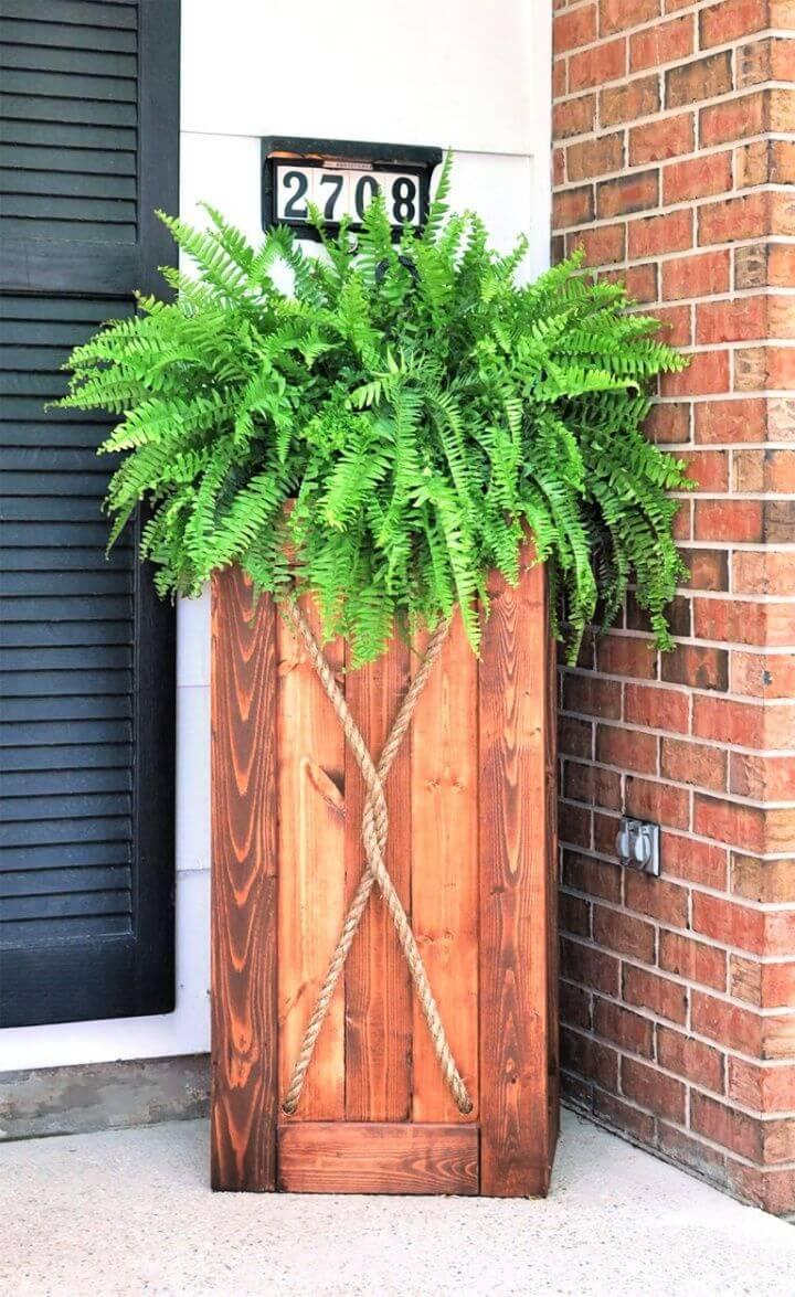 wooden planter, tutorial, corner side planters, ideas, 2019