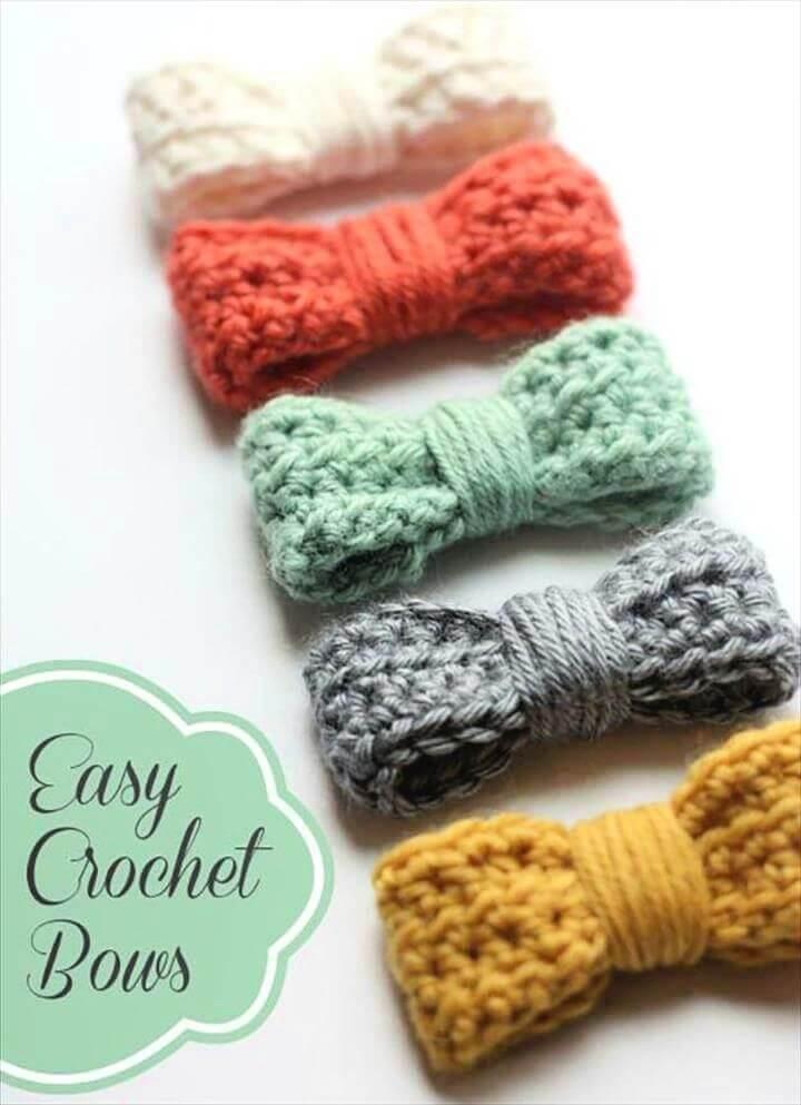 crochet bows, crochet ideas, crochet blankets, crochet hats,