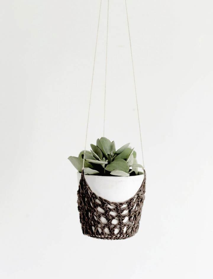 crochet hanging, planters, crochet planters, crochet ideas,