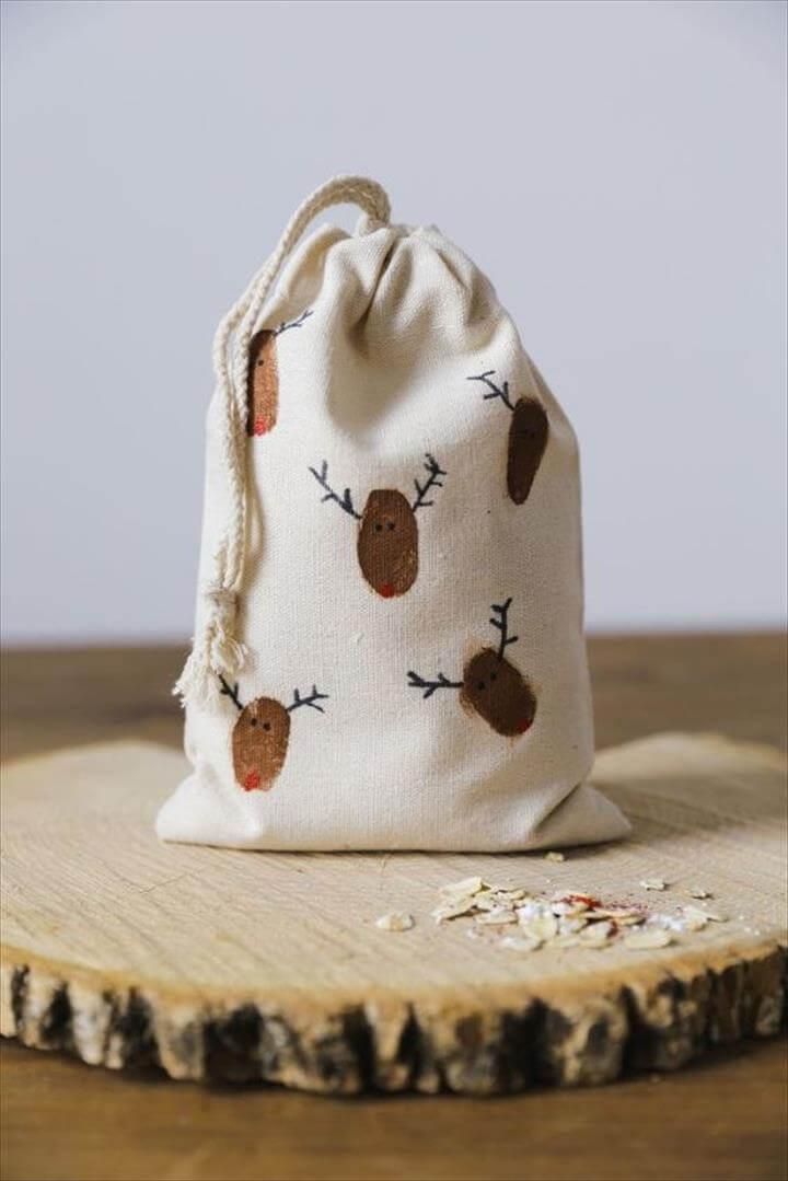 diy reindeer bag, tote bag