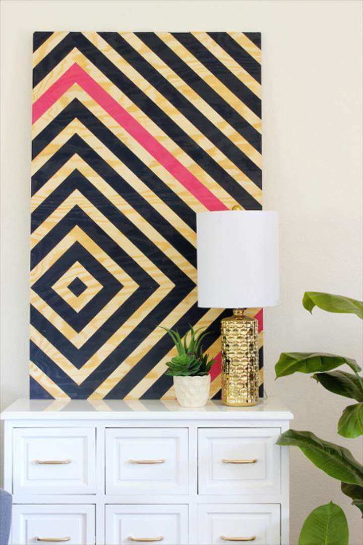 DIY Diamond Ripple Wall Art
