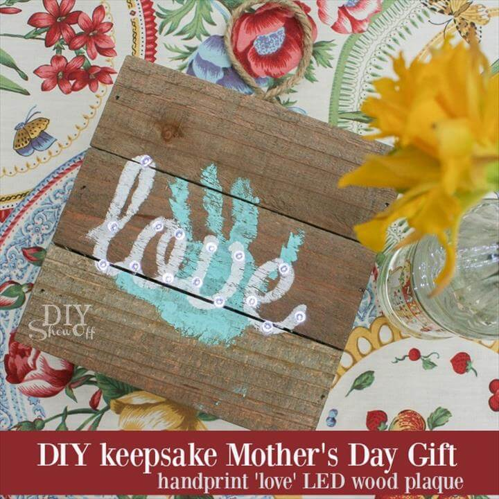 DIY keepsake handprint Mother's Day gift